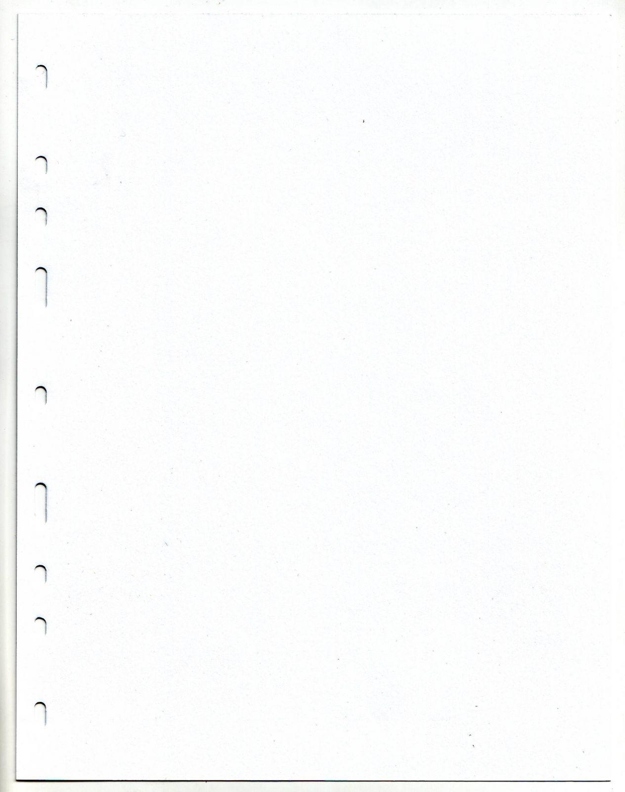 List dělící do alba BARON 2 (na mince), bílý