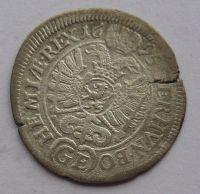 Čechy Praha 3 Krejcar 1695 Leopold I.