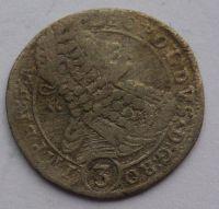 Čechy Praha 3 Krejcar GE 1698 Leopold I.