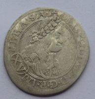 Čechy Praha XV. Krejcar 1664 Leopold I.