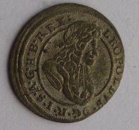 Slezsko Břeh 1 Krejcar 1697 Leopold I. STAV