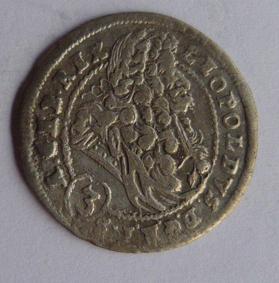 Uhry Bratisl. 3 Krejcar CH 1699 Leopold I.