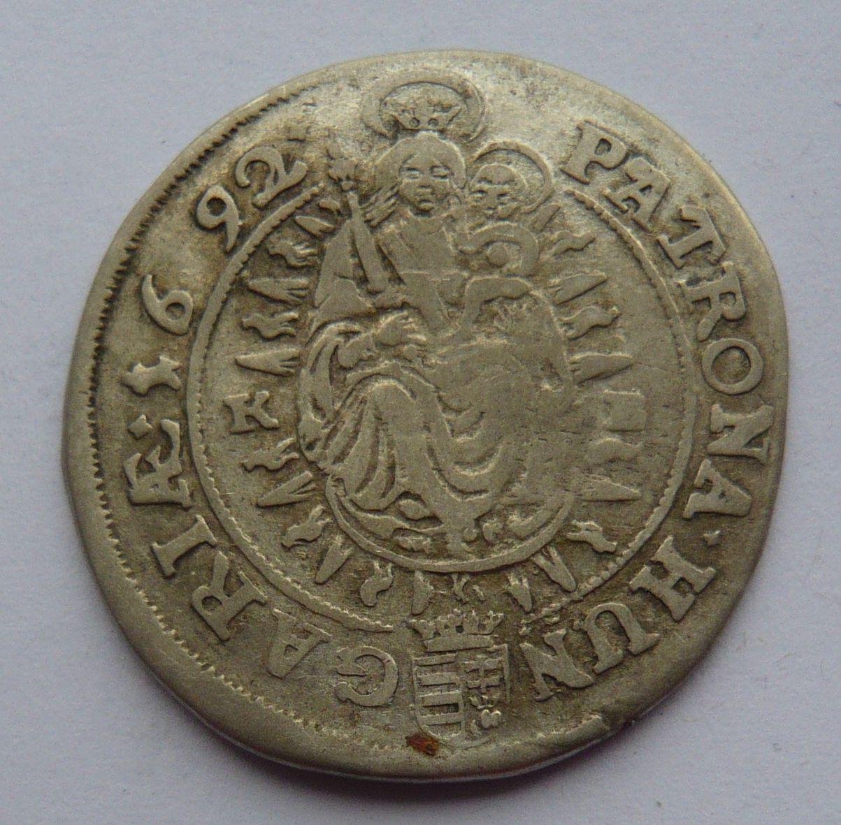 Uhry KB XV. Krejcar 1692 Leopold I.
