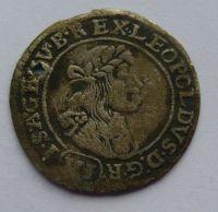 Uhry VI. Krejcar 1674 Leopold I. - dírka