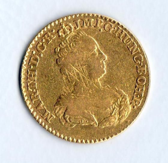 2 Souverain dór(1761-Brusel, 10,98g, Marie Terezie), stav 2/2 škr.