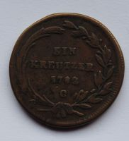 Čechy 1 Krejcar 1782 C Josef II.