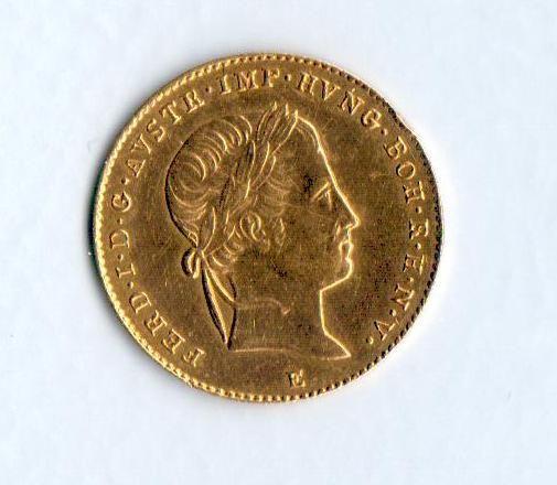 Dukát(1842-ražba E, 3,46g, Ferdinand I.), stav 1/1 pěkný!