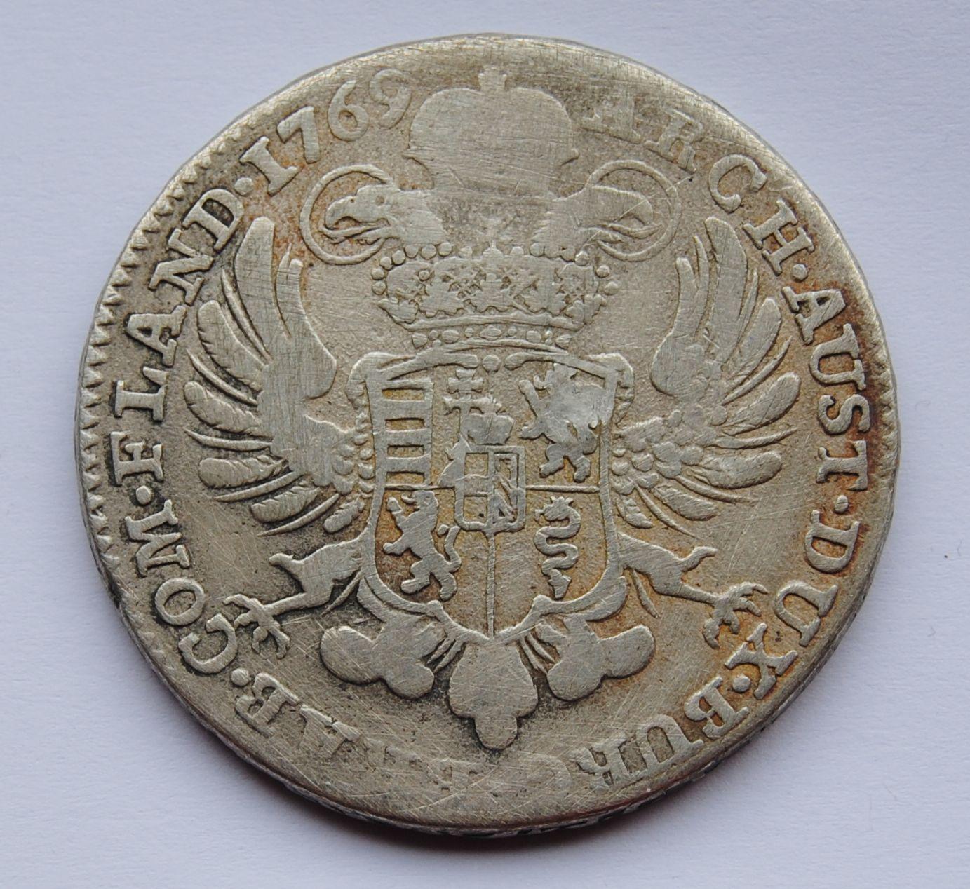 Rakousko Tolar křížový 1769 Marie Terezie