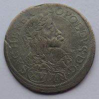 Rakousko VÍDEŇ CA XV. Krejcar 1662 Leopold I.