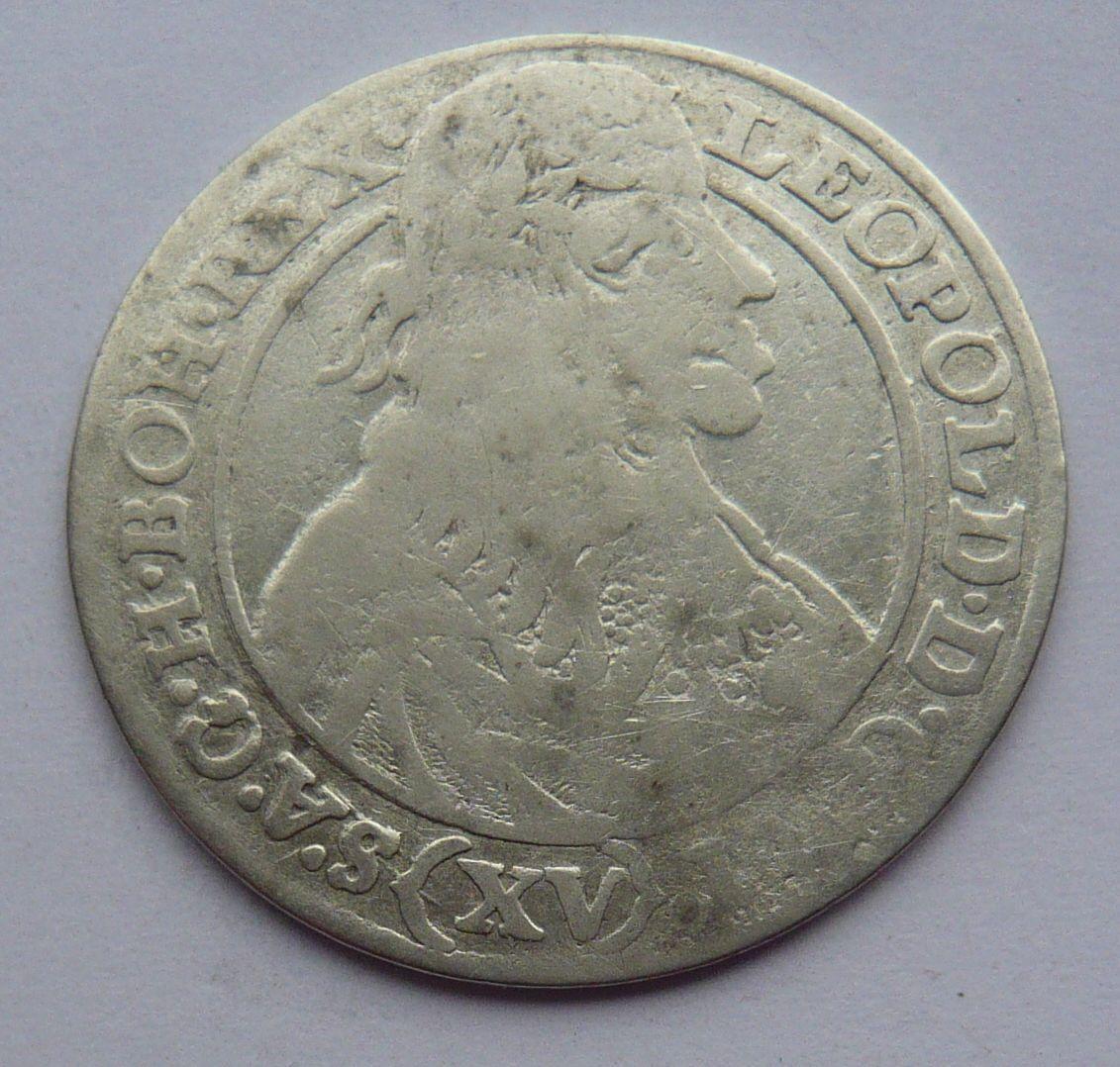 Slezsko VRATISL.SHS XV. Krejcar 1664 Leopold I.