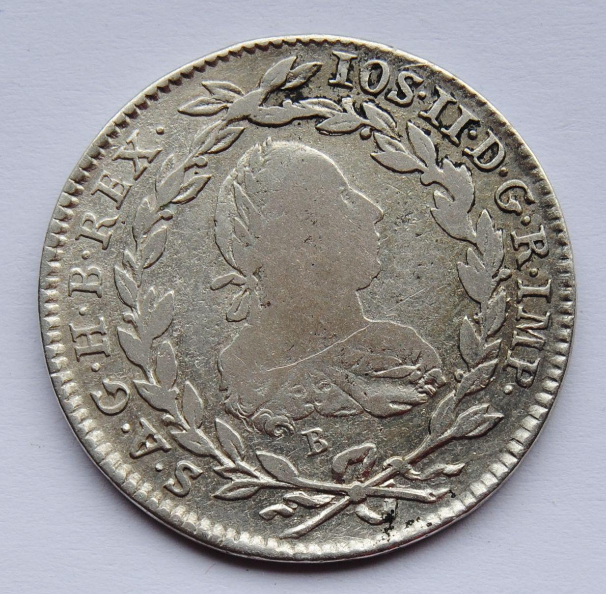 Uhry 20 Krejcar 1782 B Josef II.