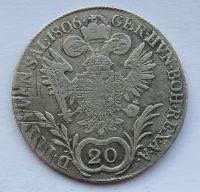 Uhry 20 Krejcar 1806 B František II.