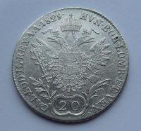 Uhry 20 Krejcar 1829 B František II.