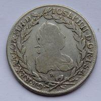 Uhry SKDD 20 Krejcar 1780 B Josef II.