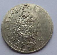 Uhry XV. Krejcar 1663 Leopold I.