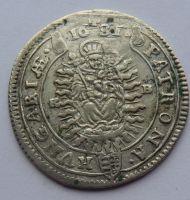 Uhry XV. Krejcar 1681 Leopold I.