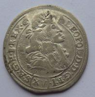 Uhry XV. Krejcar Kremnica 1680 Leopold I. STAV