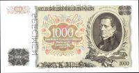 1000Ks/1934-39, přetisk Slovenský Štát/, stav UNC perf. 3x SPECIMEN, série K