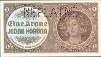 1K/1940/, stav UNC perf. NEPLATNÉ, série H 018