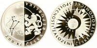 200 Kč(2017-Založení České astronomické společnosti), stav PROOF, certifikát, etue