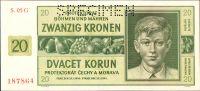 20K/1944/, stav UNC perf. SPECIMEN, série 05 G