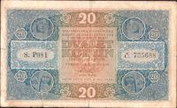 20Kč/1919/, stav 4+, série P 081