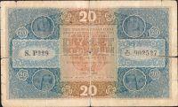 20Kč/1919/, stav 4-, série P 229