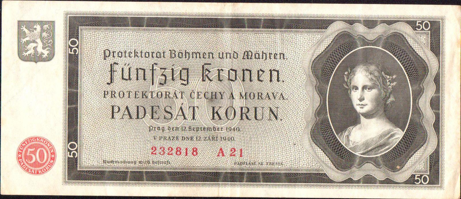 50K/1940/, stav 2+, série A 21