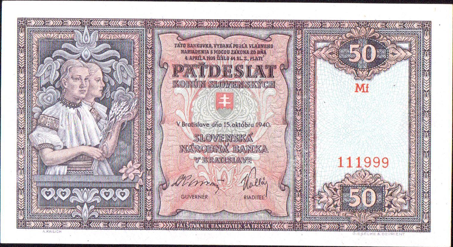 50Ks/1940/, stav 1+, série Mf