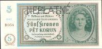 5K/1940/, stav UNC perf. NEPLATNÉ, série B 054