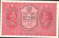 5Kč/1919/, stav 0, série 020