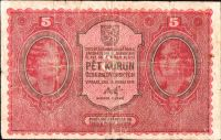 5Kč/1919/, stav 4