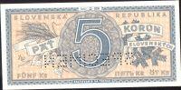 5Ks/1945/, stav UNC perf. SPECIMEN dole, série D 026