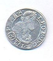 Čechy, 3 krejcar, 1680 Kutná Hora, Leopold I.