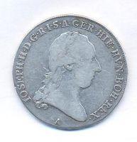 Rakousko, 1/2 tolar, 1788 A, Josef II.