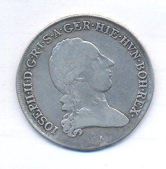 Rakousko, 1/2 tolar, 1789 A, Josef II.