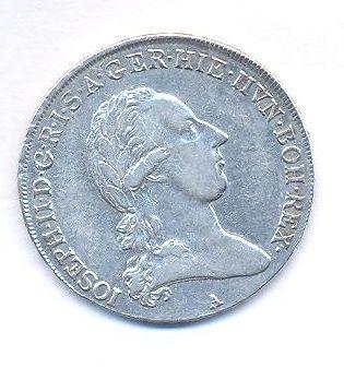 Rakousko, 1/2 tolar 1789 A, Josef II.