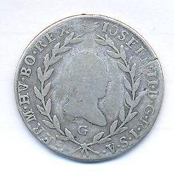 Rakousko, 20 krejcar, 1788 G Josef II.