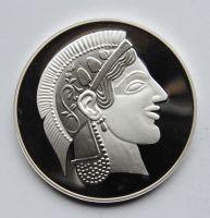 Řecko - Athénská, Tetradrachma, stříbrná KOPIE, průměr 40mm