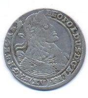 Slezsko, 15 krejcar, 1661 G-H Vratislav, Leopold I.