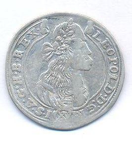 Uhry, 15 krejcar, 1676 KB Leopold I.