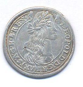 Uhry, 15 krejcar, 1677KB Leopold I.
