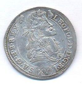 Uhry, 15 krejcar, 1682 KB Kremnica Leopold I.