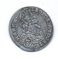 Uhry, 3 krejcar, 1697, Bratislava, Leopold I.