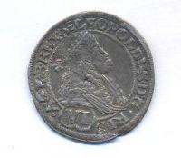 Uhry, 6 krejcar, 1676, Bratislava, Leopold I.