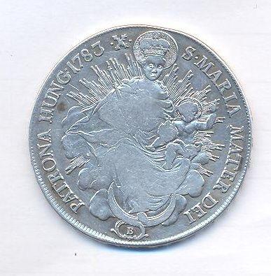 Uhry, tolar Madona, 1783 B, Josef II.