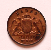 Baden 1 Krejcar 1868