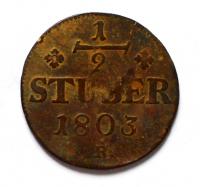 Berg 1/2 Stüber 1803 Maxmilián IV.
