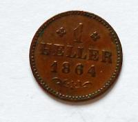 Frankfurt 1 Haller 1864 STAV
