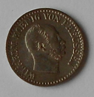 Prusko 1 stř. Groš 1868A Vilém l.